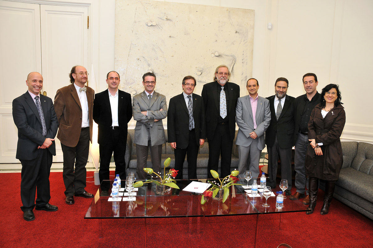 Autoritats polítiques a la sala Vip del Palau de Pedralbes.