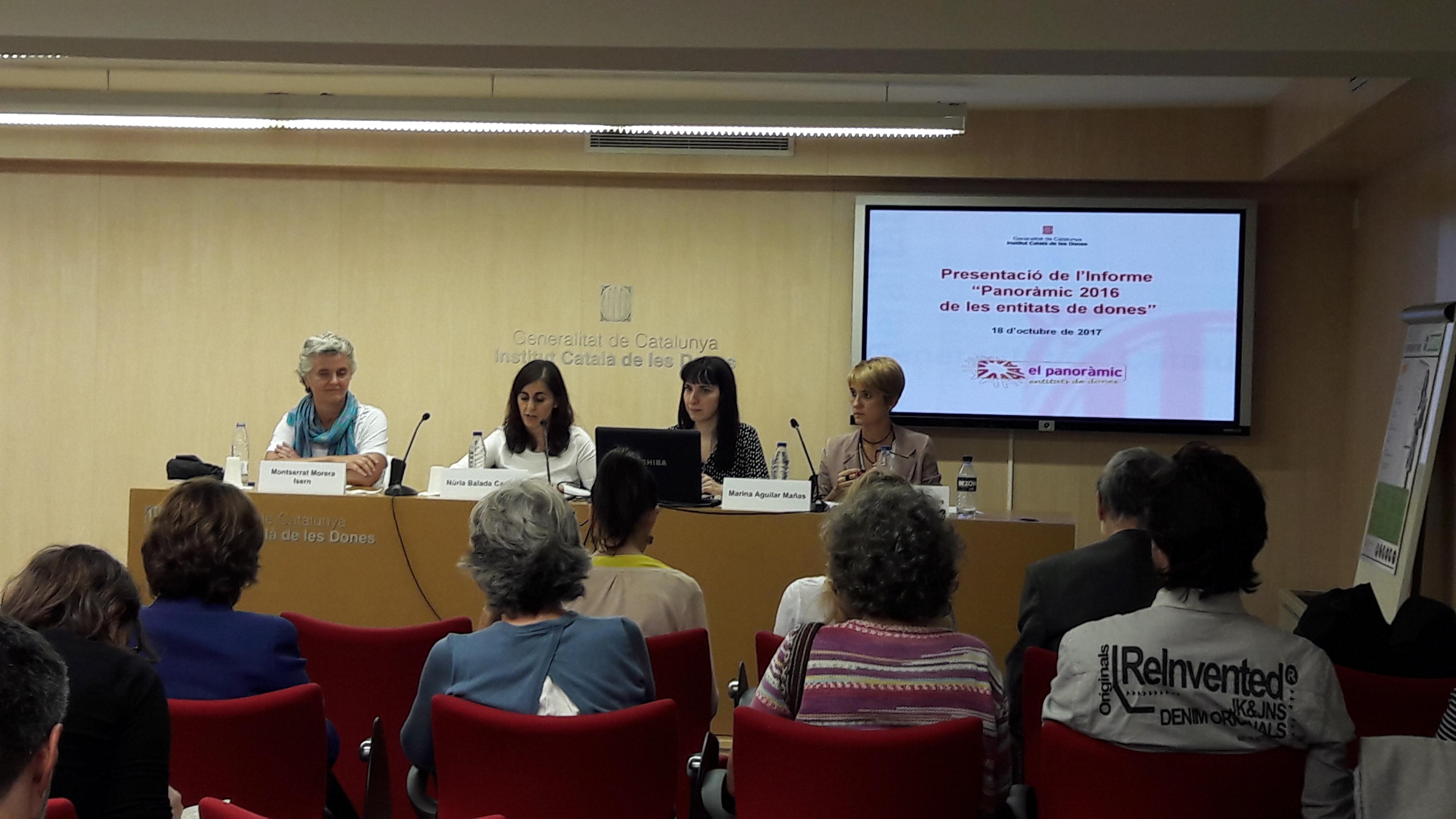 Presentació del Panoràmic de les entitats de dones