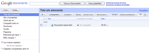 Imatge de la vista general de Google Docs