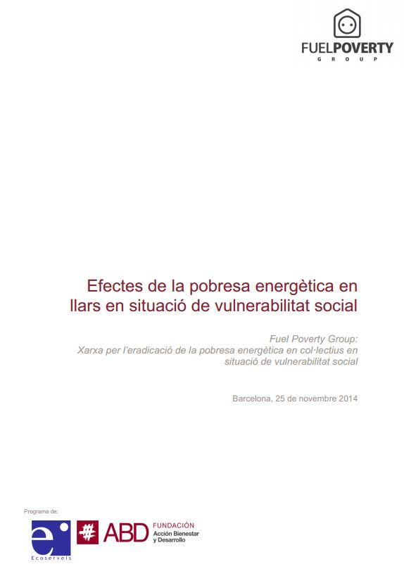 Portada de Efectes de la pobresa energètica en llars en situació de vulnerabilitat social