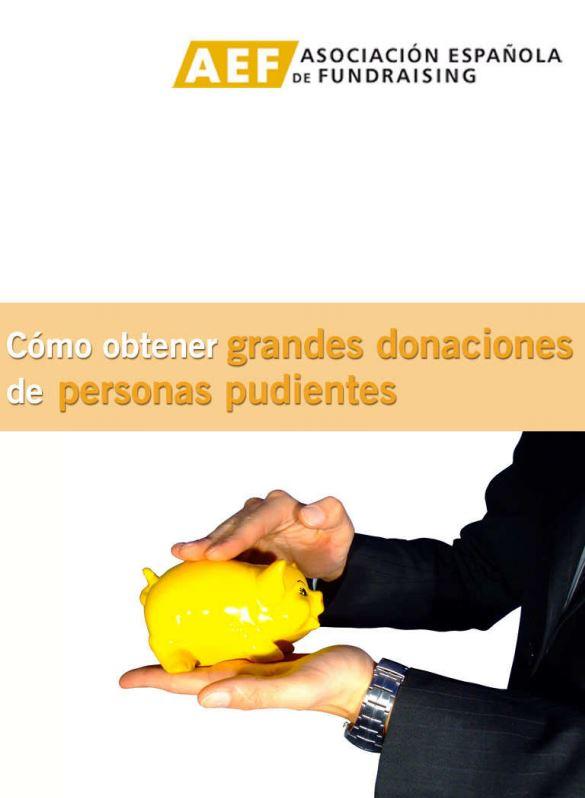 Portada de Cómo obtener grandes donaciones de personas pudientes