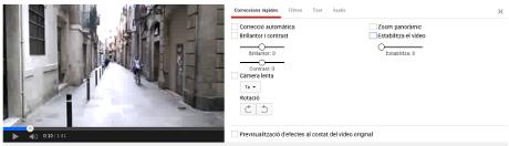 Podeu editar els talls de vídeo amb diferents formes