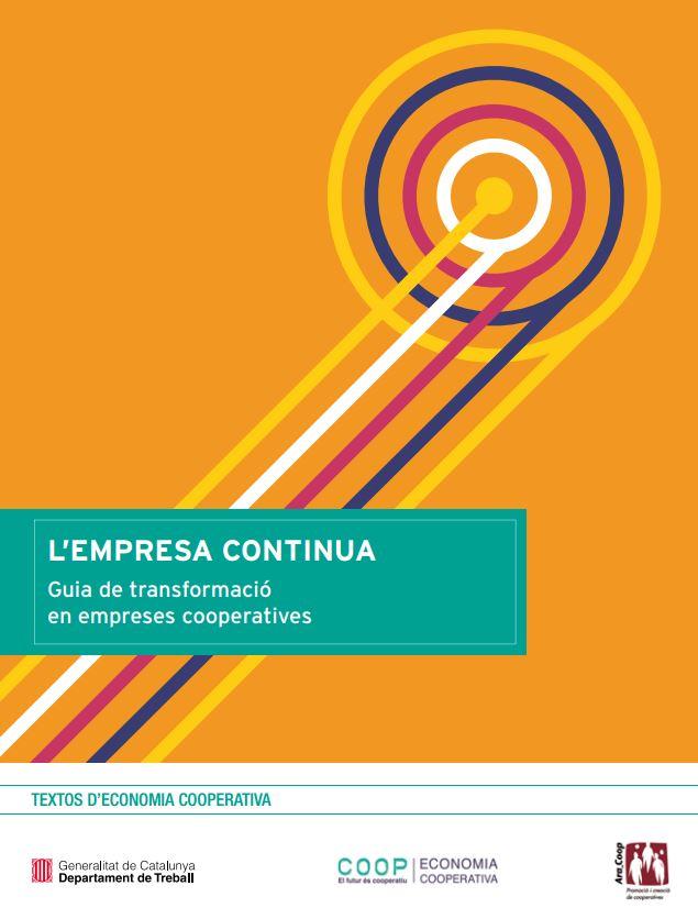 Portada de L'Empresa continua: guia de transformació en empreses cooperatives