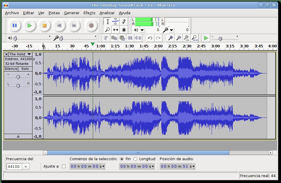 Audacity és un editor i mesclador d'àudio Font: Audacity