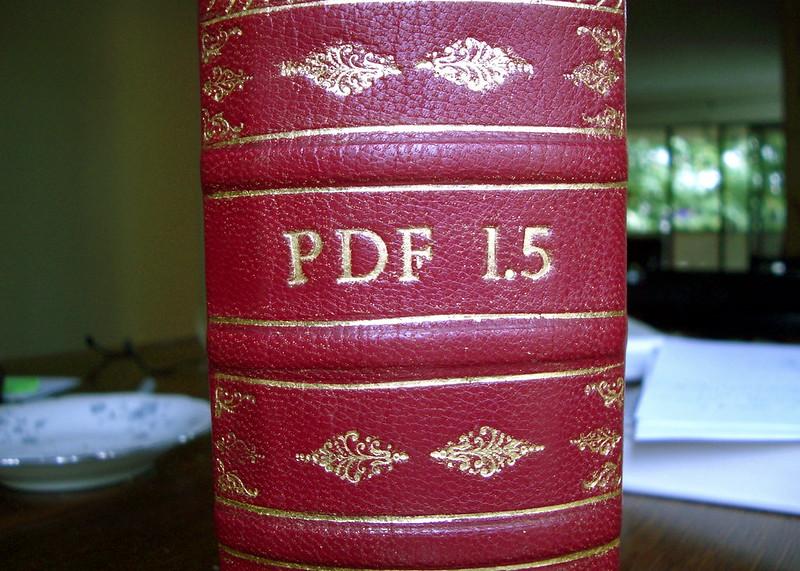 Els arxius PDF són documents que no es poden editar. Imatge de Ralph Giles. Llicència d'ús CC BY-SA 2.0 Font: Ralph Giles. Llicència d'ús CC BY-SA 2.0