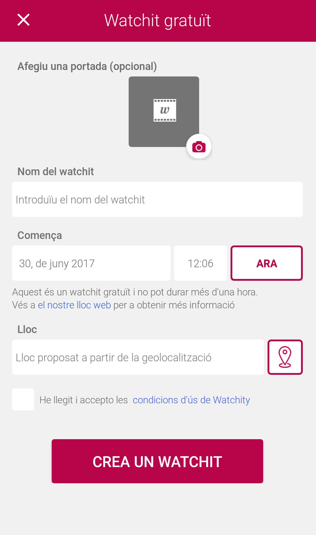 crear whatchity amb totes les dades Font: whatchity