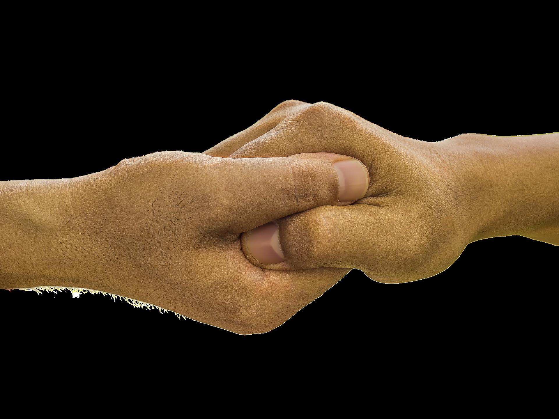 Mans unides per donar ajut Font: Pixabay
