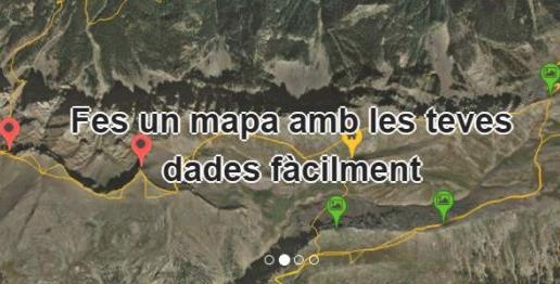 Instamaps permite crear mapas personalizados y agregar datos.
