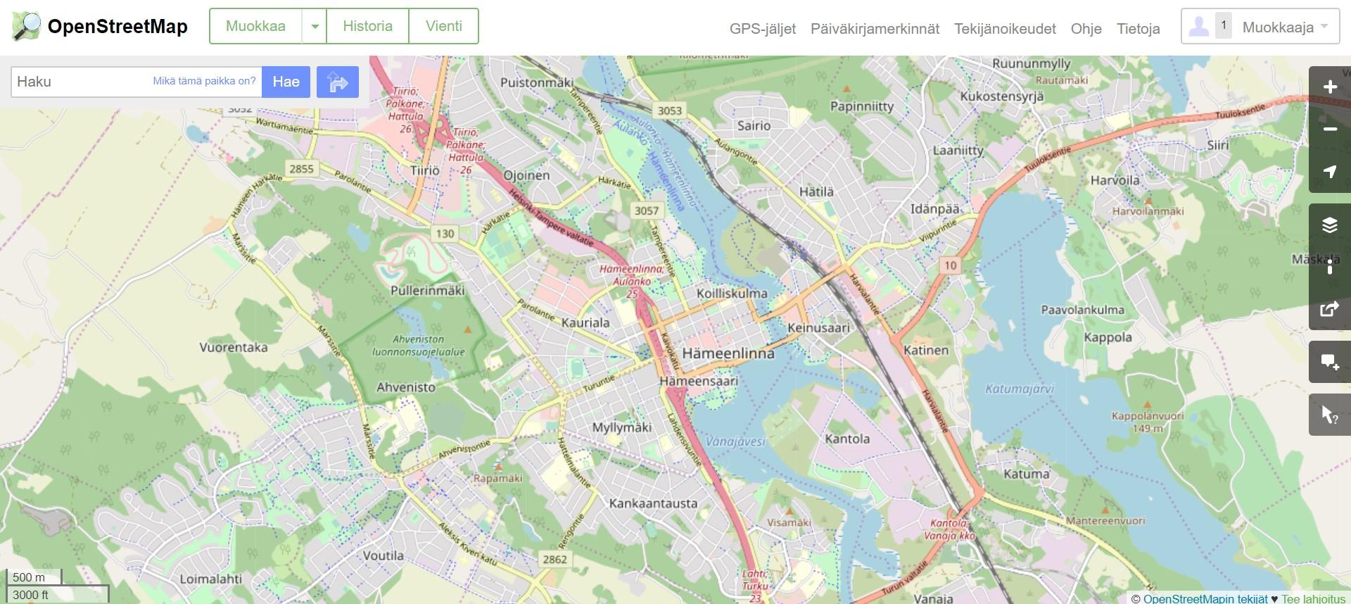 Open Street Maps és un mapa col·laboratiu on les dades són introduïdes per milers de persones.  Imatge de Contribuidors Open Street Maps. Llicència d'ús CC BY-SA 2.5 Font: Open Street Maps. Llicència d'ús CC BY-SA 2.5