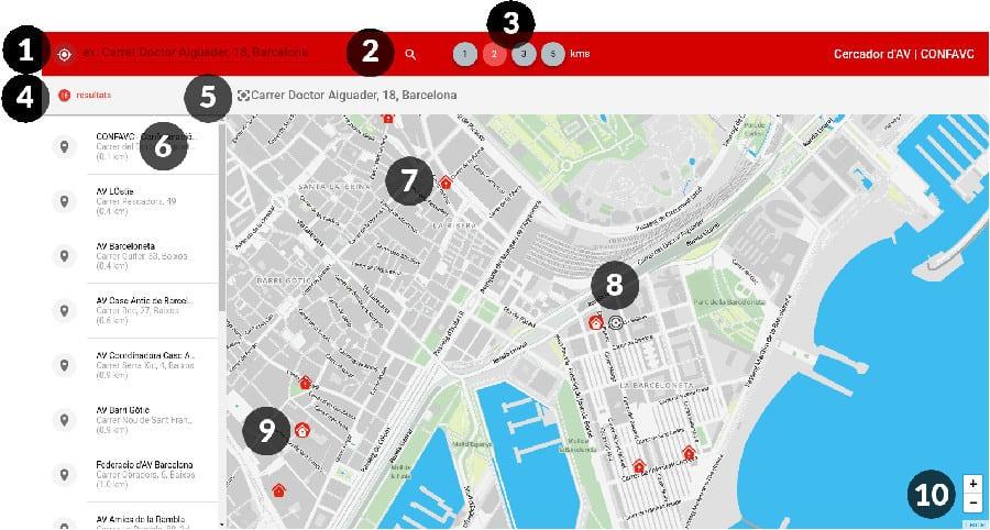 Veinapp es una aplicación que te ayudará a encontrar de l'de la asociación de vecinos y los vecinos más cercanos.