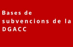 Imatge de la notícia Es publiquen les bases de subvencions de la DGACC