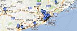 mapa dels centres de voluntariat a Catalunya