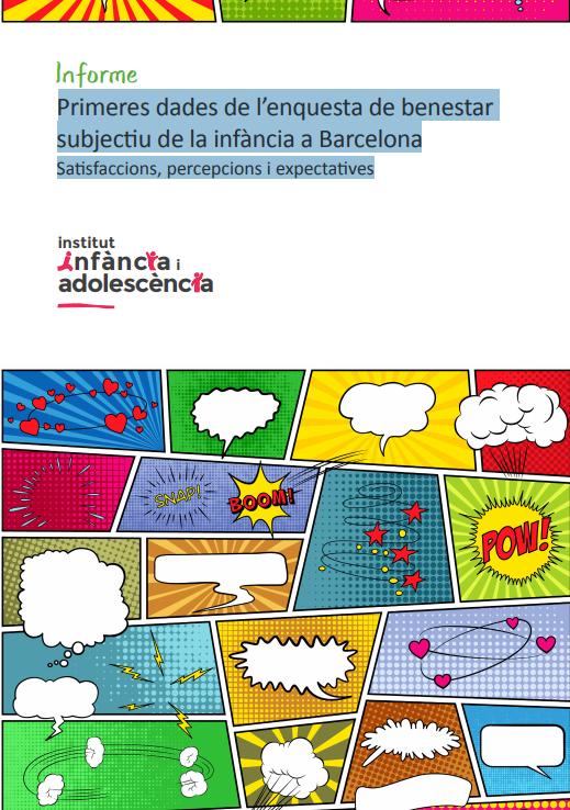 Portada de Primeres dades de l'enquesta de benestar subjectiu de la infància a Barcelona