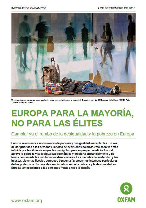Portada de Europa para la mayoría, no para la élites
