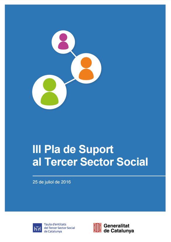 Portada de III Pla de Suport al Tercer Sector Social