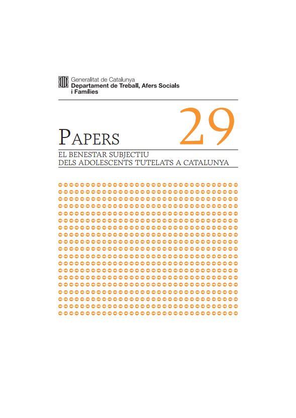 Portada de El benestar subjectiu dels adolescents tutelats a Catalunya