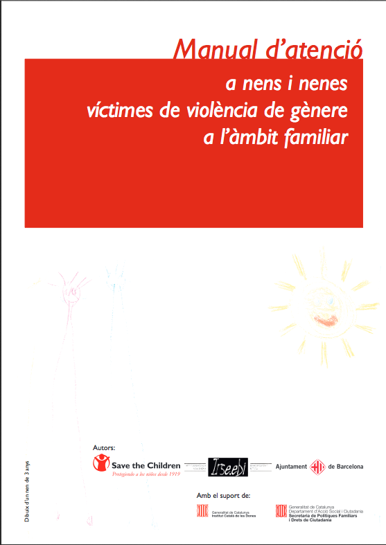 Portada de Manual d'atenció a nens i nenes víctimes de violència de gènere a l'àmbit familiar