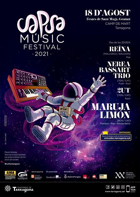 Cartell del Capsa Músic Festival 2021.  Font: aMt