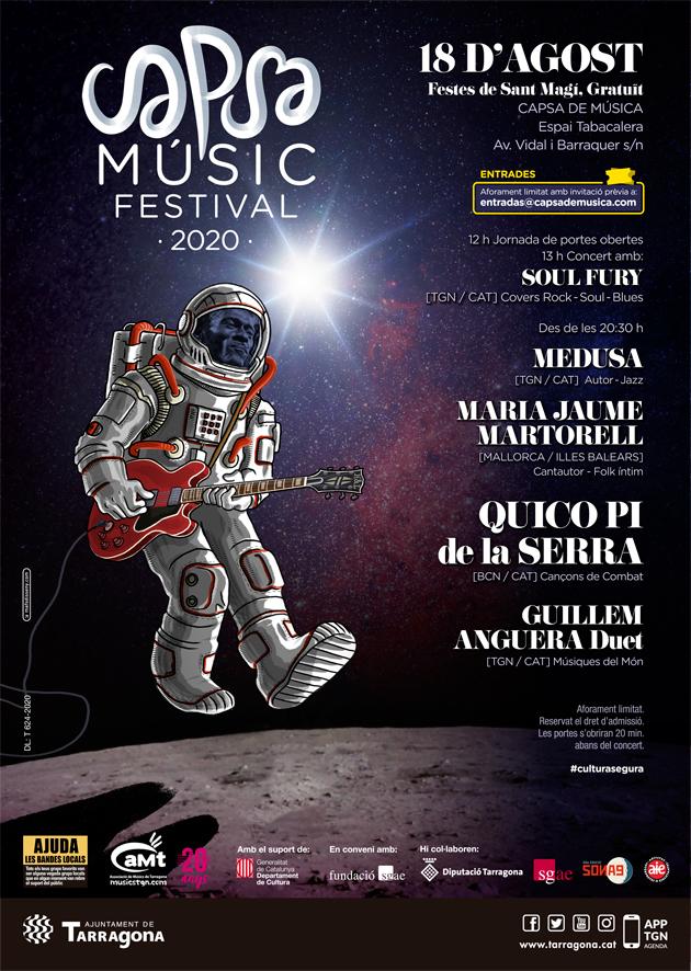 Arriba el Capsa Music Festival de l'Associació de Músics de Tarragona Font: aMt