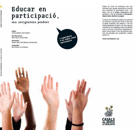Portada de Educar en participació: una assignatura pendent