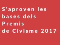 Imatge de la notícia S'aproven les bases dels Premis de Civisme 2017
