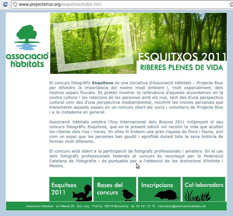 Web del concurs www.projecterius.org/esquitxos