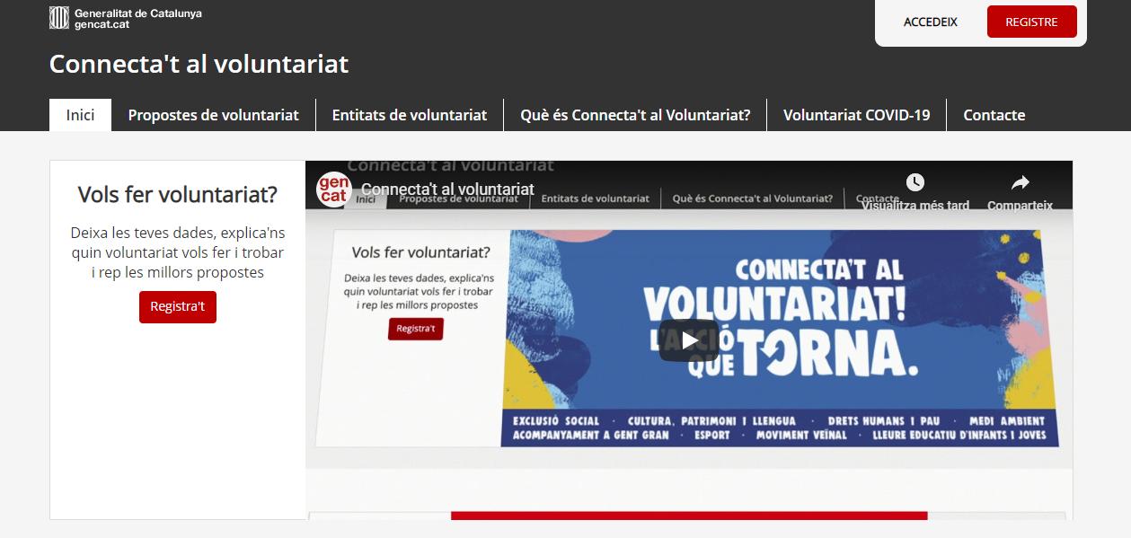 Vídeo - Connecta't al voluntariat