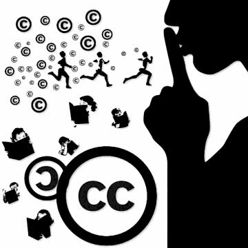 La llicència Creative Commons que obliga a reconèixer l'autoria i a compartir de la mateixa manera és equivalent al 'copyleft' del món del programari Font: Creative Commons