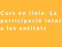 Imatge de la notícia Curs en línia: La participació interna a les entitats