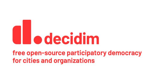 Decidim és una eina de de presa de decisions participativa de codi obert Font: Decidim