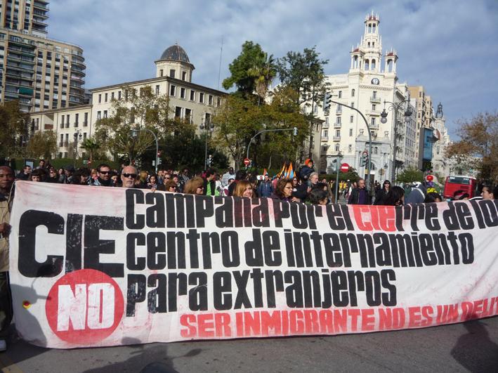 Manifestacions tancament CIEs