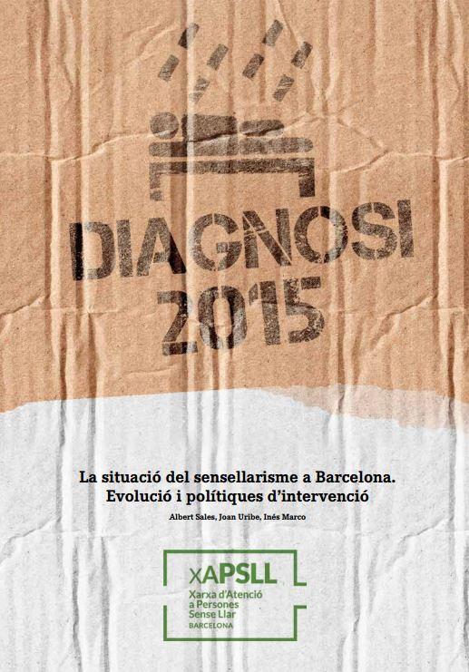 Portada de La situació del sensellarisme a Barcelona. Evolució i polítiques d'intervenció