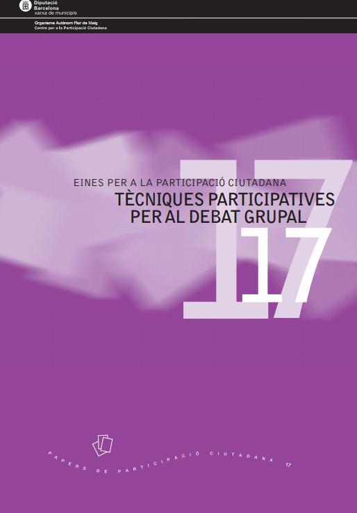 Portada de Eines per a la participació ciutadana: Tècniques participatives per al debat grupal