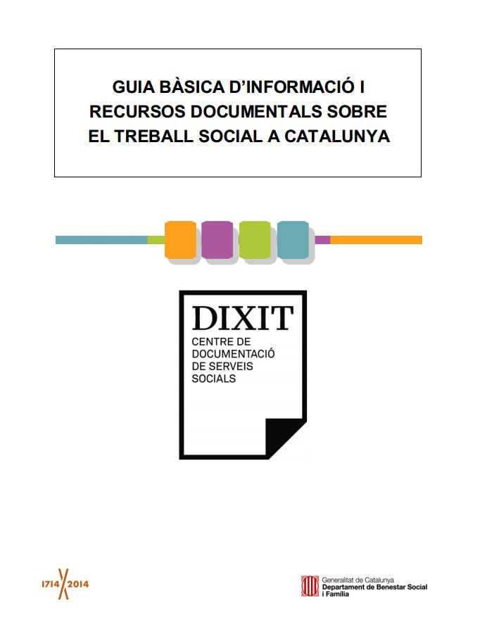 Portada de Guia bàsica d'informació i recursos documentals sobre el treball social a Catalunya