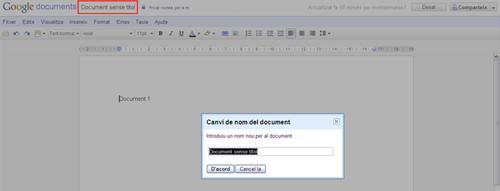 Canviar el títol del document