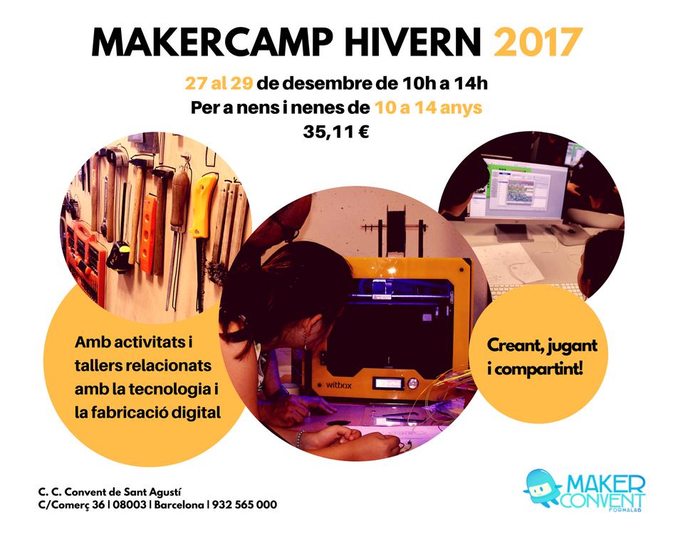el Cartel de la MakerCamp de Invierno