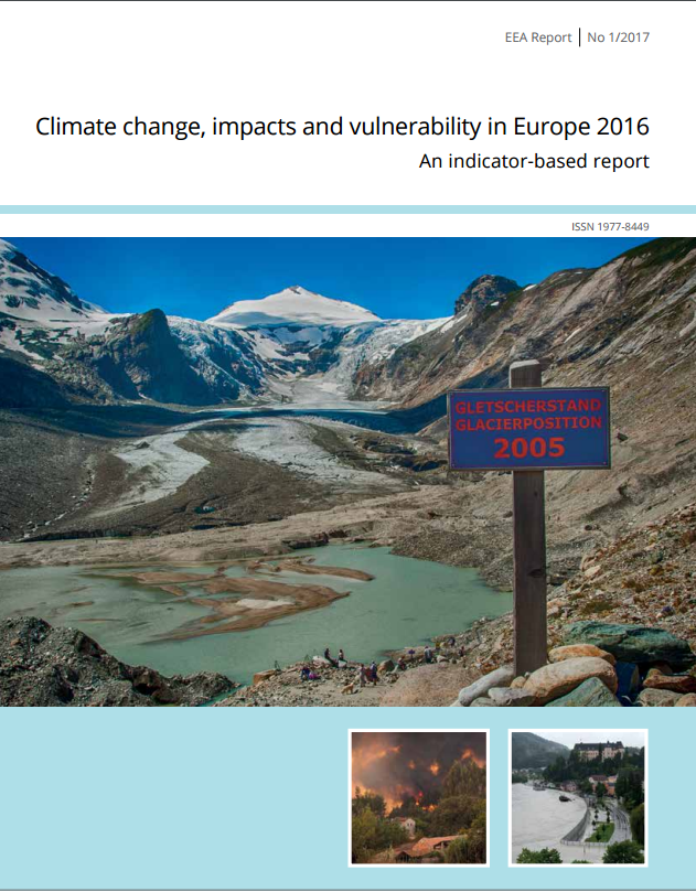 Portada de Climate change, impacts and vulnerability in Europe 2016