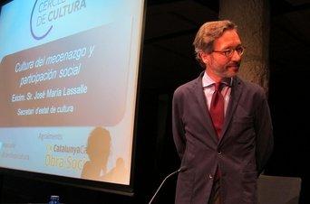 Fotografia del Secretari de l'Estat de Cultura José Maria Lassalle