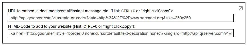 Codi HTML per inserir el QR Code