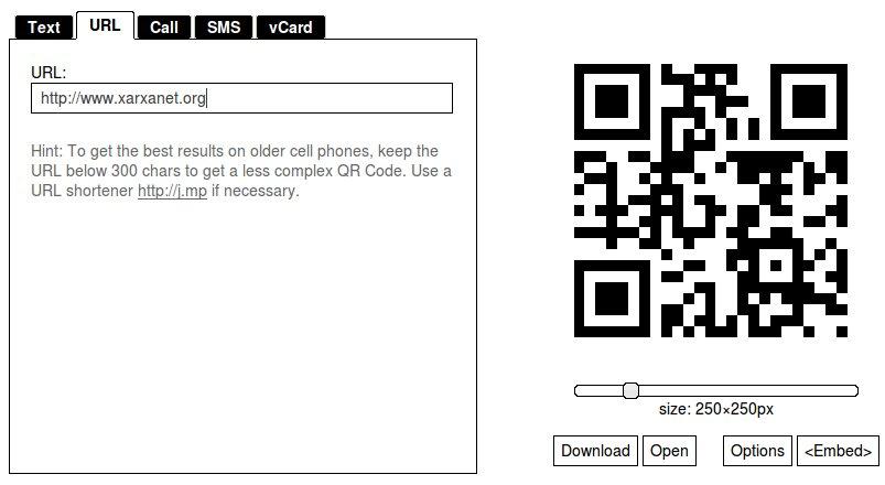 Crear un QR Code que enllaci a una pàgina web
