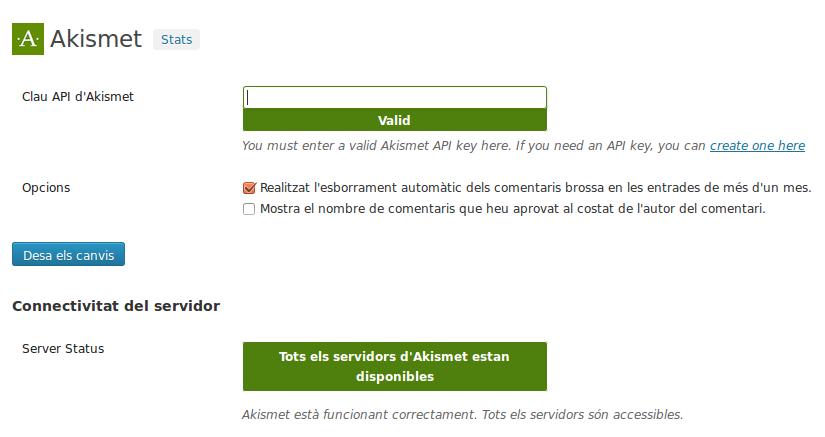 Akismet pot arribar a esborrar automàticament l'SPAM del vostre blog