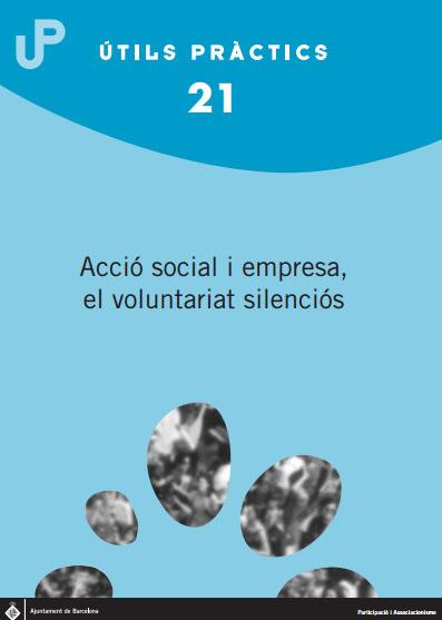 Portada de Acció social i empresa, el voluntariat silenciós