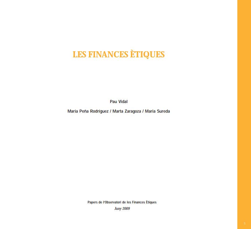 Portada de Les Finances Ètiques