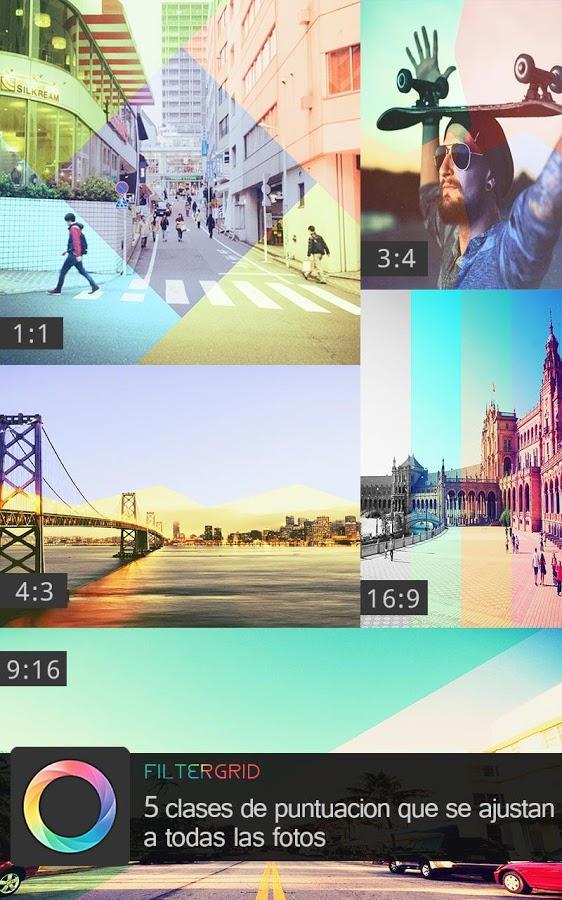 Amb Filtergrid podreu crear presentacions de fotos amb graelles i aplicar molts filtres!
