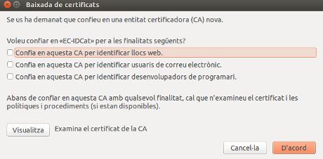Per instal·lar les claus de seguretat per detectar problemes amb els navegadors