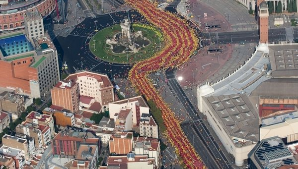 Via Catalana 2014 - Font: lavanguardia.es