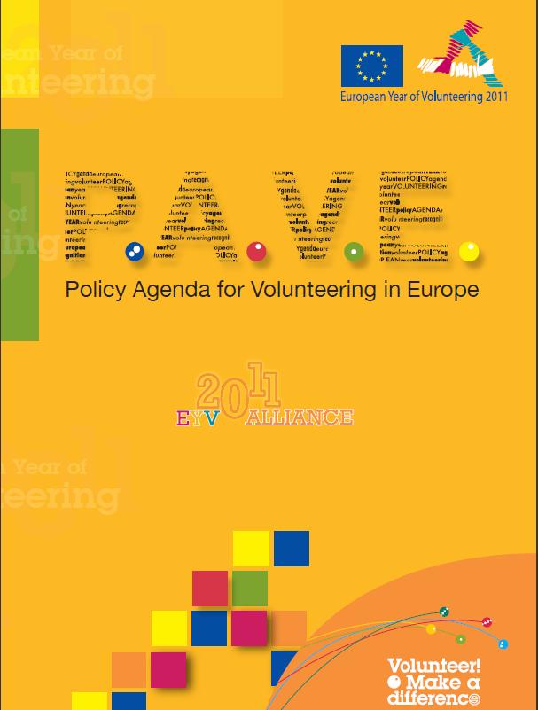 Portada de Policy Agenda for Volunteering in Europe (P.A.V.E).