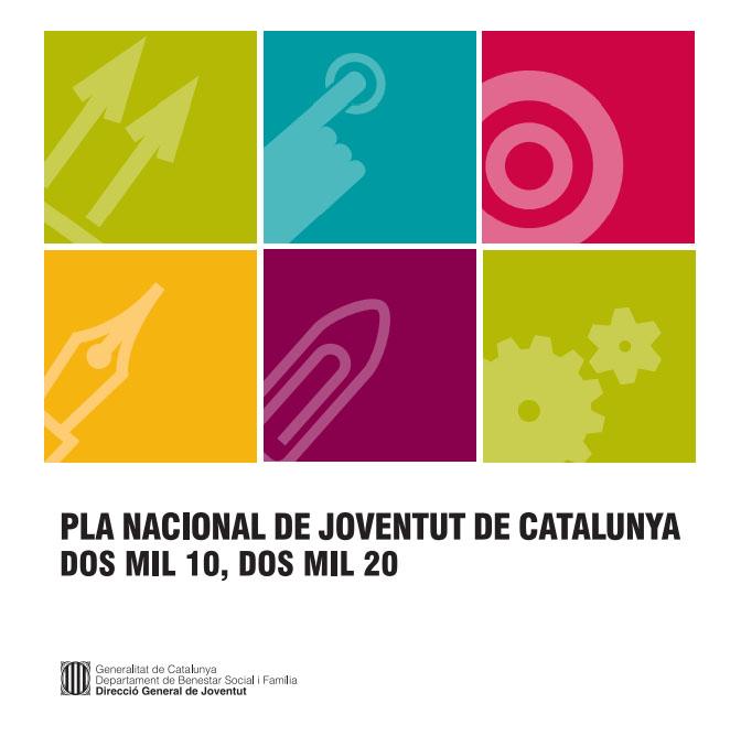 Portada de Pla Nacional Joventut Catalunya dos mil 10 dos mil 20: document de consens