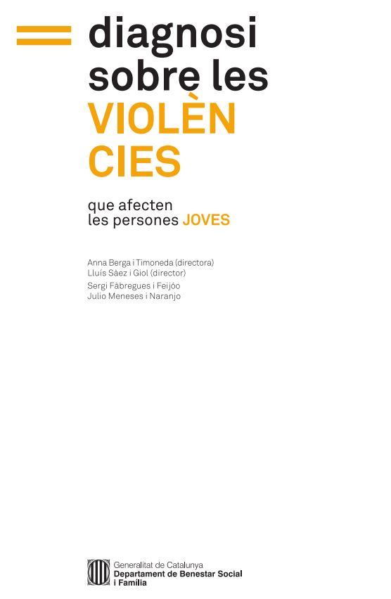 Portada de Diagnosi sobre les violències que afecten les persones joves