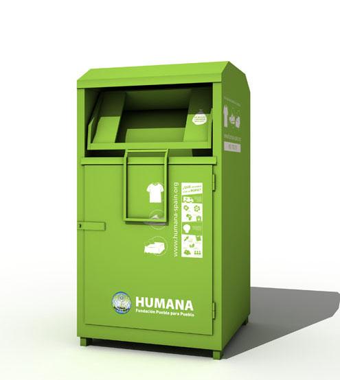 Contenidor de roba Humana. Font: People to People